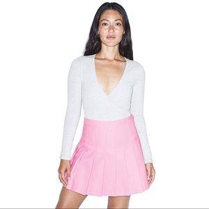 American Apparel Pink Tennis Skirt